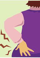 腰部捻挫のイメージ